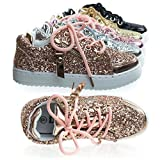 Remy18k 49RoseGold Lace up Rock Glitter Fashion