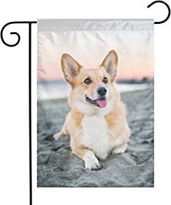 LQLDHJ Dog Garden Flag Stand Banner Outdoor Decor for Homes Gardens 12 X 18 Inches