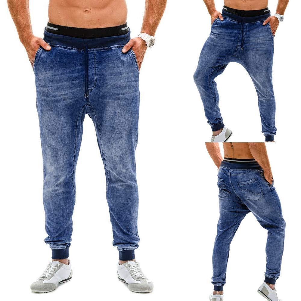 ZYUEER PantalóN Vaquero EláStico para Hombre Pantalones ...