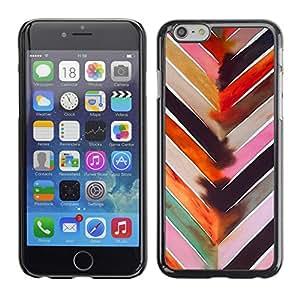 Cubierta de la caja de protección la piel dura para el Apple iPhone 6 (4.7) - chevron watercolor pastel tones pattern