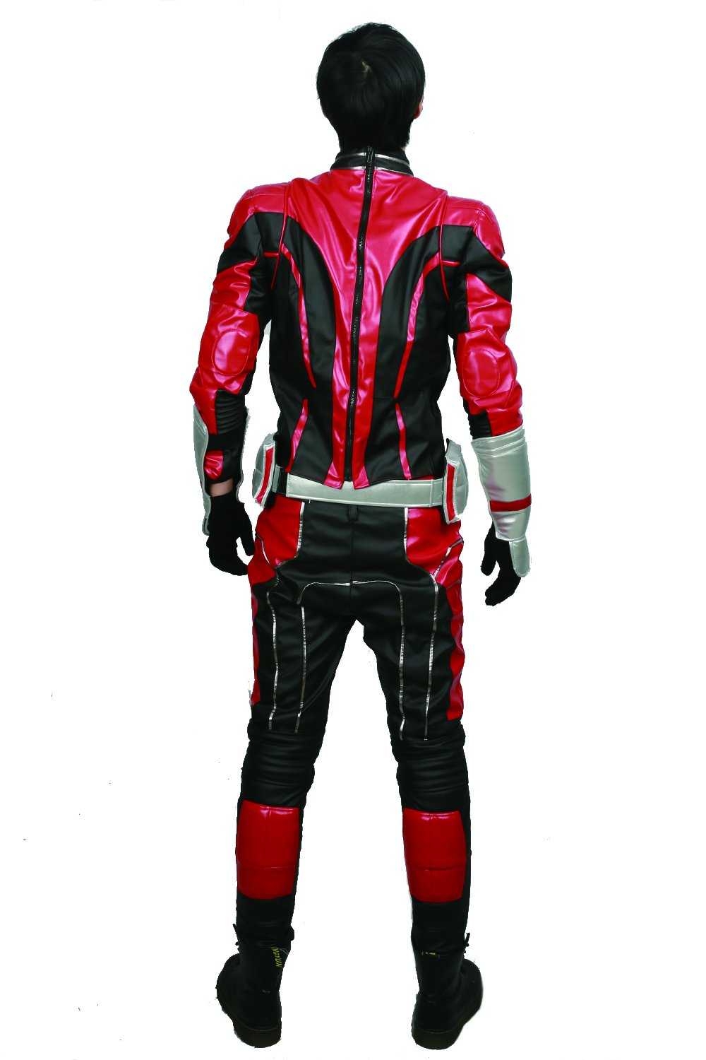 xcoser Ant Man Costume with Helmet Deluxe PU Cosplay Outfit Belt Gloves Full Suit Halloween Custom Made by xcoser (Image #5)