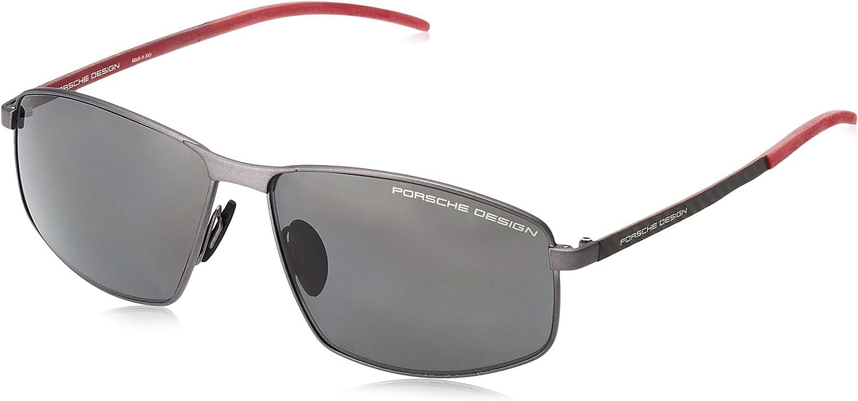 Porsche Design Mens P8618 P8618 Retro Pilot Sunglasses