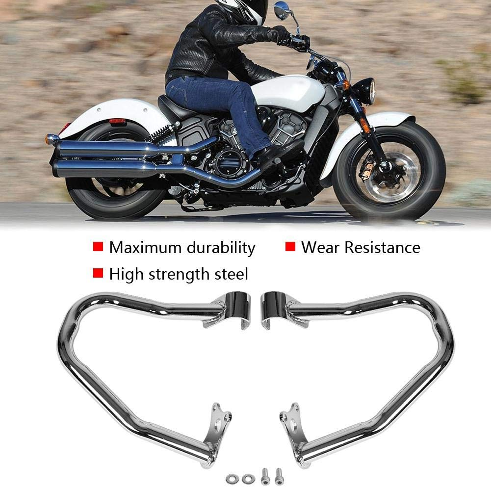 2pcs Motorcycle Front Bumper Guard Cover Tank Protector for Indian Scout Sixty 2016-2019 Motorcycle Engine Bumper Black