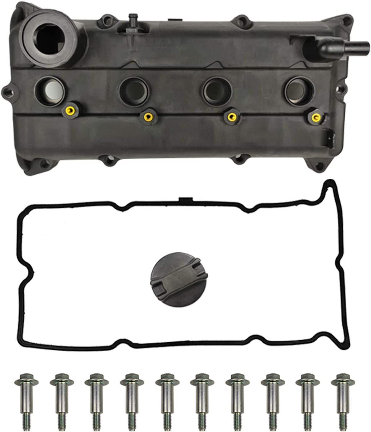 Oil Filler Cap Bolts Compatible with 2002-2006 Nissan Altima Sentra 2.5L Replaces#13264-3Z001 13264 3Z001 264-982 Engine Valve Cover Kit w//Gaskets /& Spark Plug Tube Seals Set PCV Valve
