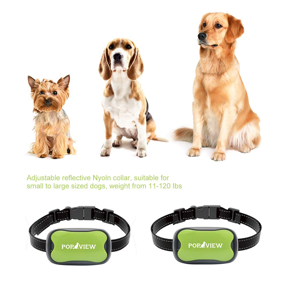 POP VIEW Dog Anti Bark Collar, Small, Medium, Large Dogs, 7 Adjustable Levels with Sound and Vibration, No Shock, Harmless & Humane, Stops Dogs Barking by POP VIEW (Image #2)