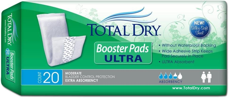 TotalDry 13 Inch Length Heavy Absorbency Booster Pads