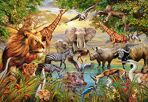 Ravensburger 14809 Majestic Watering Hole Jigsaw Puzzle (500 Piece)