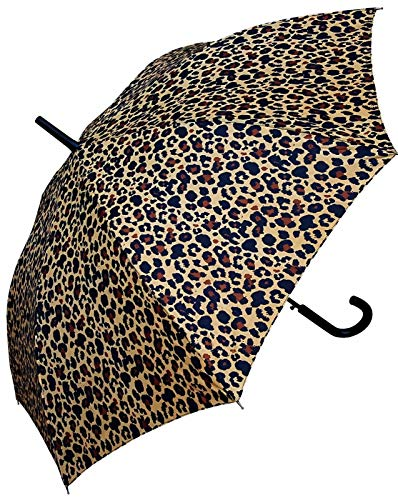 48 inch Leopard Print Stick Umbrella - Auto Open - Best for Women - by ()