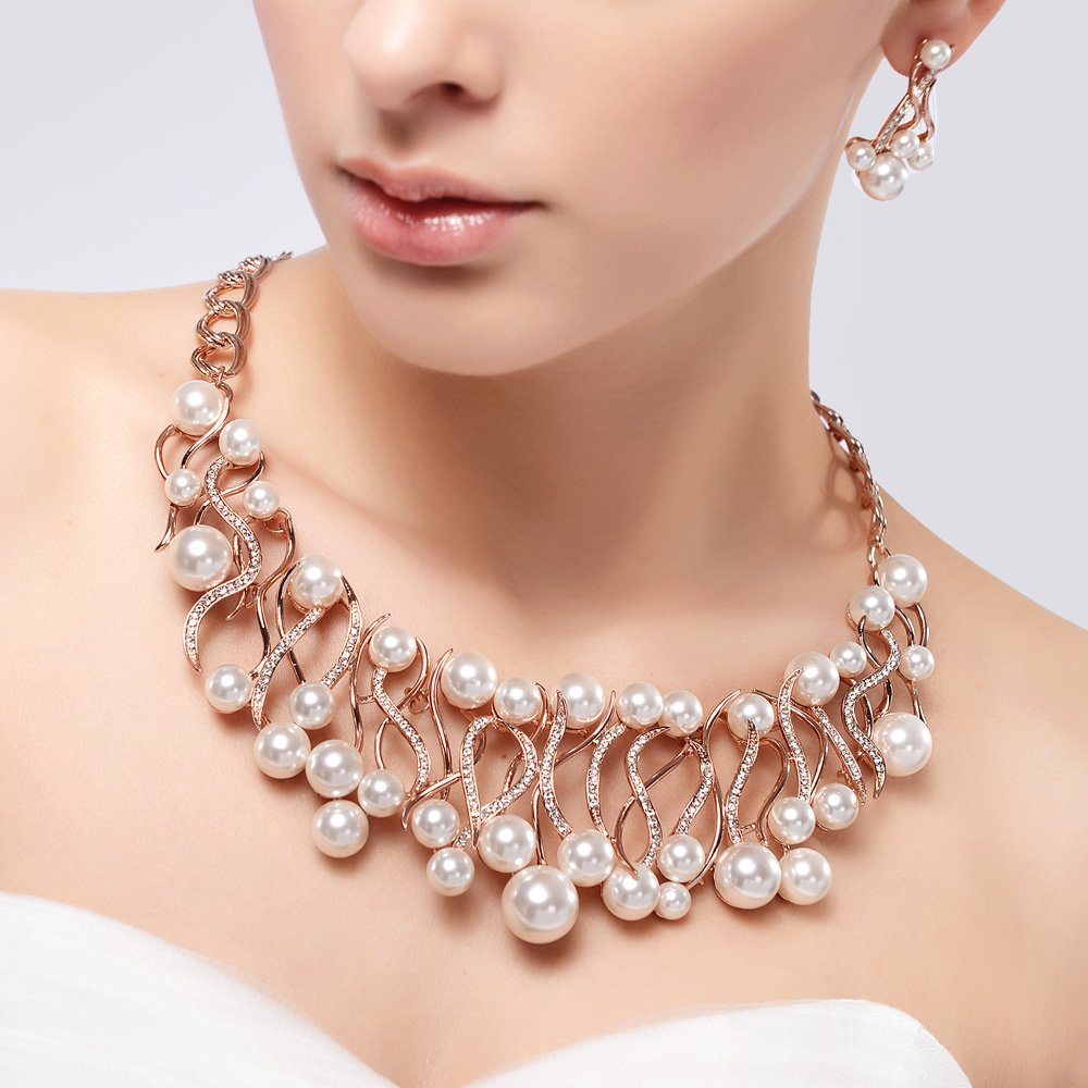 IUHA Pearl Necklace Elegant Jewelry/Gift /Fade Resistant/Hypoallergenic by IUHA (Image #2)