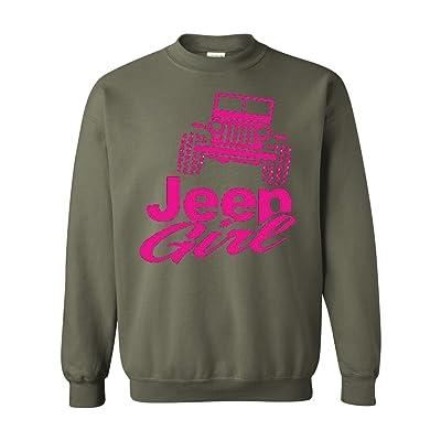 Acacia Jeep Girl Unisex Crewneck Sweatshirt