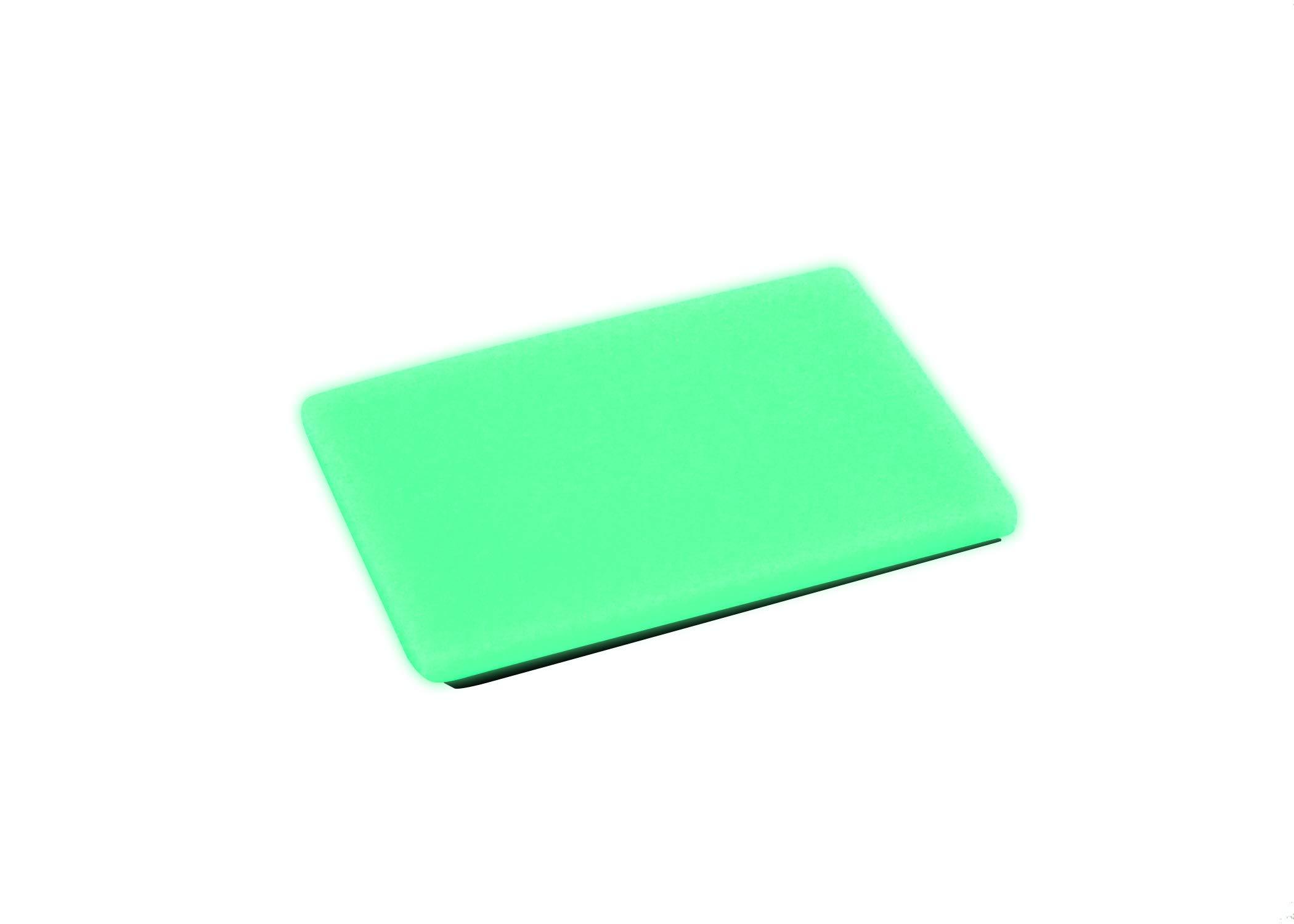 Embrite BEACON Morale Patch (2'' x 3'', Green Glow) - glow in the dark Velcro attachment by TEC Accessories