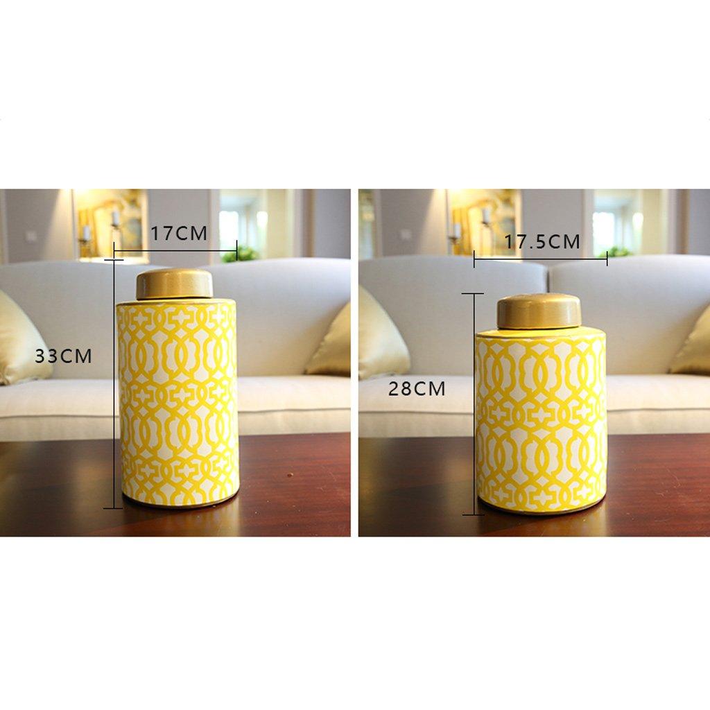 GAODUZI Nuovo Modello Cinese Vaso in Ceramica Fiore casa Soggiorno Desktop Portico Artigianato Vaso di Fiori (Dimensioni   28  17.5cm)