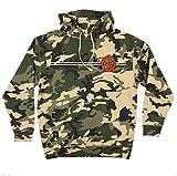 Santa Cruz Skateboards Classic Dot Hooded Pullover Sweatshirt (Army Camo, Medium)