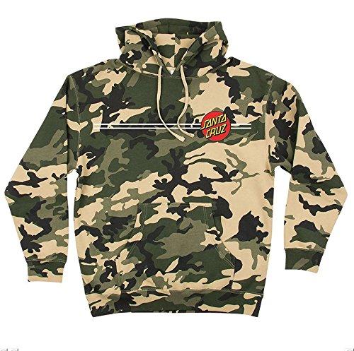 Santa Cruz Classic Dot Pullover Hooded Sweatshirt Army Camo (Large)