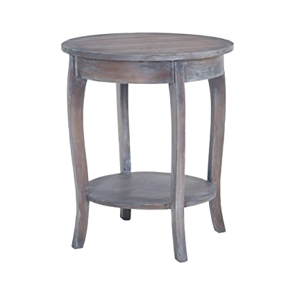sterling end table in heritage gray stain white wash - White Wash End Tables