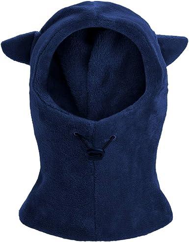 Kids Winter Balaclava Hat Face Cover Ski Mask Neck Gaiter Warmer Animal Hood Cap for Boys Girls
