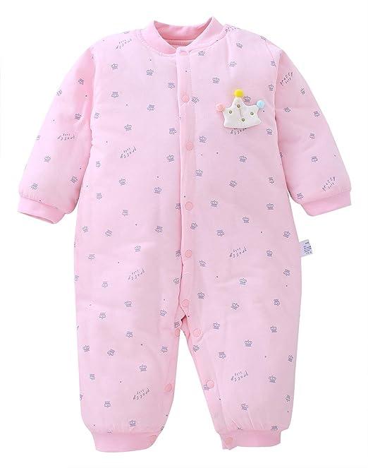 XIUBEIXING - Pelele para Recién Nacidos de Algodón Suave Jumpsuit de Invierno Mono de Infantiles con