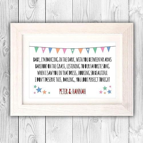 Personalised wedding anniversary gift/Ed Sheeran Perfect