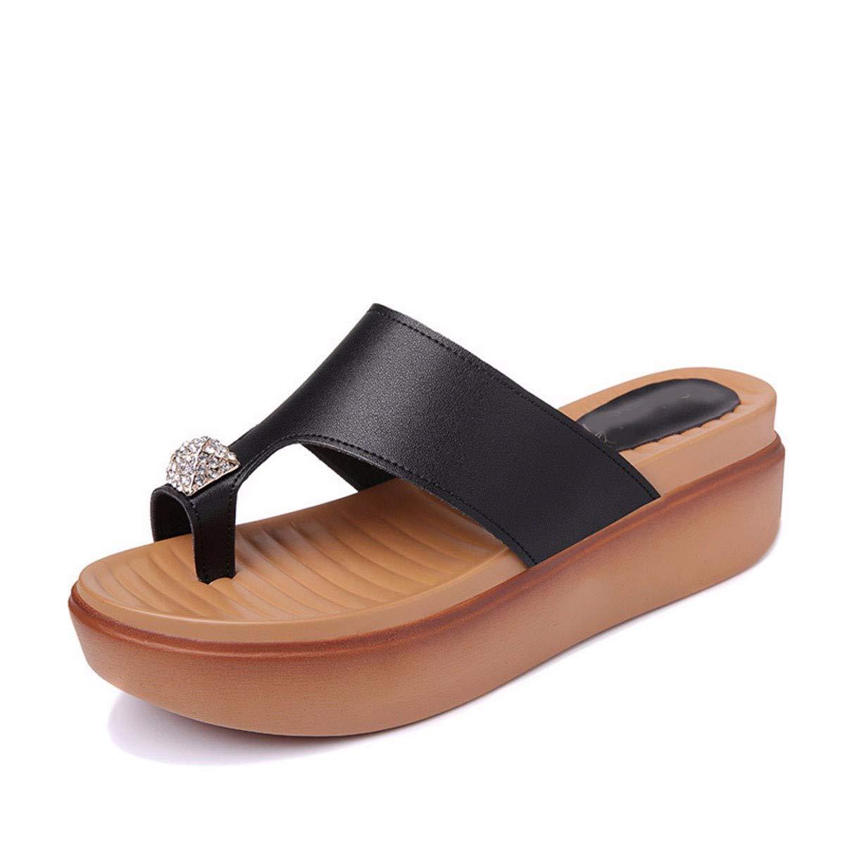 GTVERNH Frauen Schuhe Hang Sohle Fuß-Pantoffeln Sommer Mode Verschleiß Strand-Urlaub.
