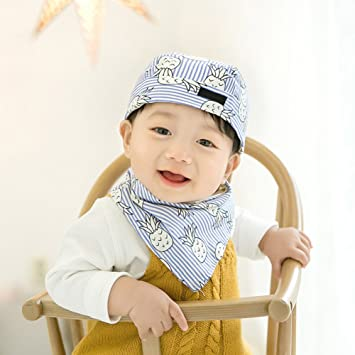 b3085963cac Infant Toddler Cotton Cap Scarf Set Beanie Hat Berets Bonnet Cap Bandanna  Neckerchiefs Bib Neck Wrap