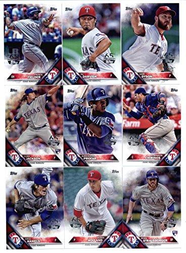 2016 Topps 65th Anniversary Baseball Texas Rangers Team Set of 24 Cards: Rougned Odor(#15), Delino DeShields Jr.(#18), Elvis Andrus(#276), Colby Lewis(#304), Shin-Soo Choo(#308), Mitch Moreland(#334), Josh Hamilton(#340), Joey Gallo(#352), Sam - 65 276 18
