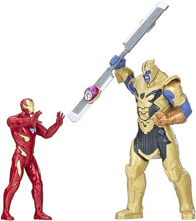 Pack de 2 figuras de 15 cm de la película de Los Vengadores: La Guerra del Infinito,Incluye a Thanos
