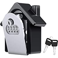 Diyife Extra Large Key Lock Box, [Updated Version][Emergency Key] Wall Mounted Combination Key Safe Storage Lock Box with Emergency Key Prevent Forgetting Passwords for Home Garage Storage Spare Keys