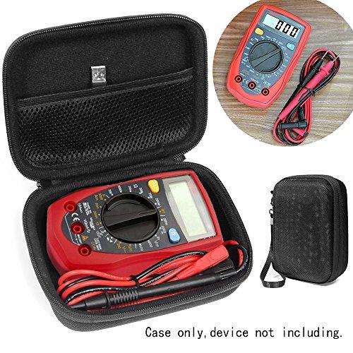 Price comparison product image Digital Multimeters Case for Etekcity MSR-R500,  AstrolAI,  Craftsman Multimeter,  34-82141,  Crenova MS8233D,  Cell Sensor EMF Detection Meter,  The Ghost Meter EMF Sensor,  WeePro Vpro850L Mesh pocket