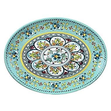 Le Cadeaux Madrid Turquose 16  Oval Platter