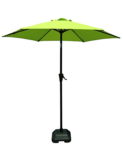 Charmant PATIOROMA 7.5 Feet Outdoor Patio Umbrella With Push Button Tilt And Crank,  6 Ribs