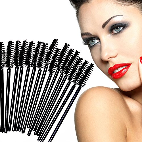 Kit Extenstion (Disposable Eyelash Brush Multicolored Mascara Wands Applicators Separator Eyelash Comb Cosmetic Set for Eyelash Extension Kit Makeup Salon Express 100 PCS)