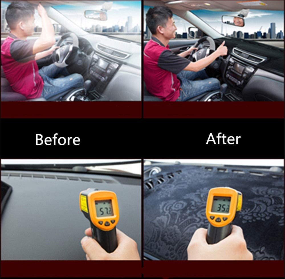 WBMKH Tablero de Instrumentos Cubierta de Almohadilla Mat Dash Anti-UV Sun Shade Instrument Protect Carpet Car Accesorios para Audi A4 B8 2008 2009 2010 2011-2015