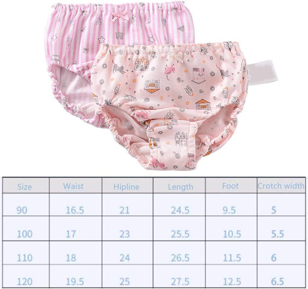 DANDANdianzi 2PCS Girls Baby Disper Pants Cotton Children Panty Girl Panties Underpants Newborn Boys Toddler Underwear