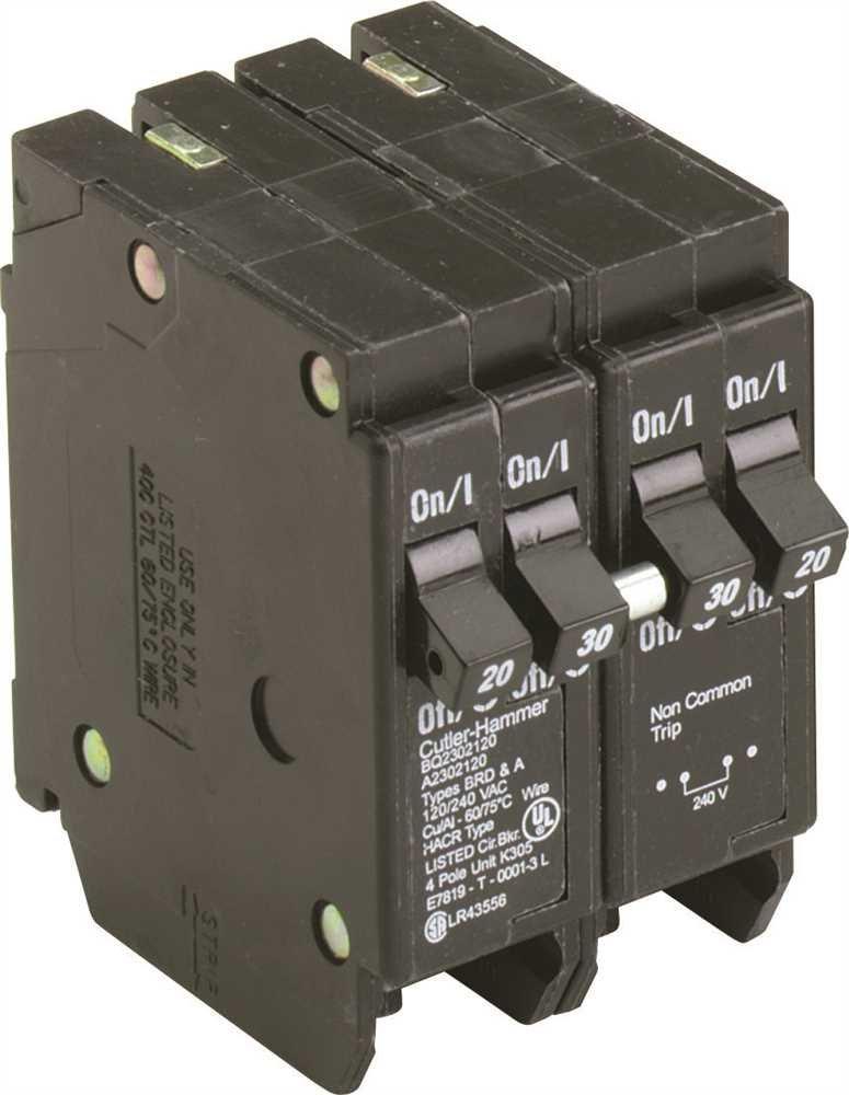 EATON GIDDS-606019 606019 Bq Quad Breaker One 2 Pole 30A X Two 1 Pole 20A It