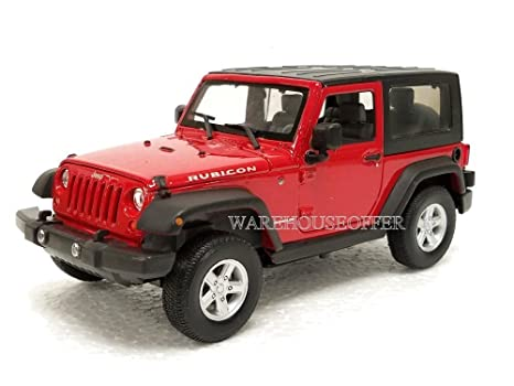 NEW 1:24 DISPLAY WELLY COLLECTION   RED 2007 JEEP WRANGLER RUBICON WITH TOP  Diecast