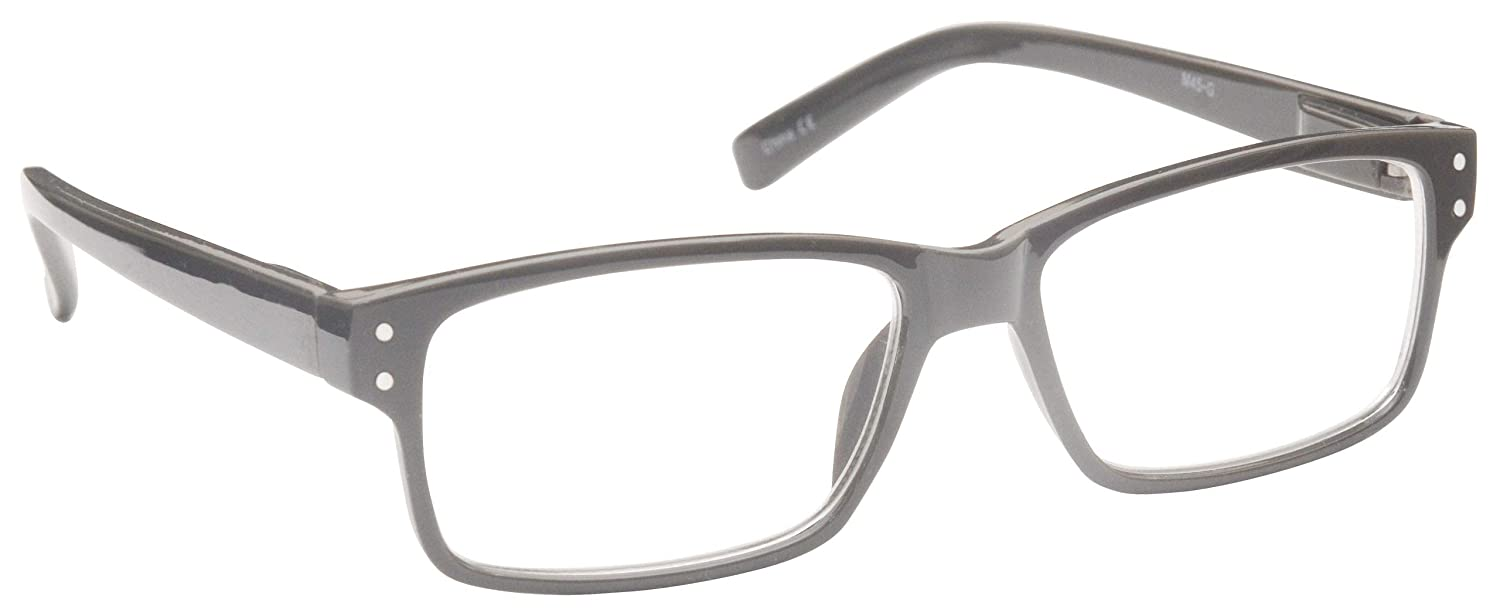 04963e7b66 Solid Grey Near Short Sighted Distance Glasses Myopia Mens Womens Spring  Hinges M45-G -1.00  Amazon.co.uk  Health   Personal Care