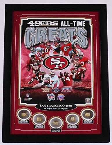 SAN FRANCISCO 49ERS LEGENDS SUPER BOWL RING FRAME 16X20 MONTANA RICE YOUNG from Unknown