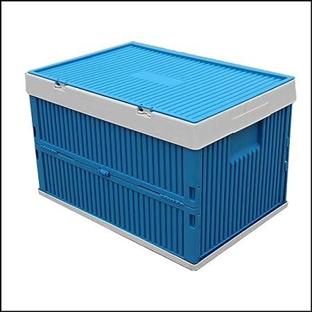 Cooralledtooere Caja Plegable de plástico, Caja de almacenaje Plegable con Tapa, Ideal for el Coche, Armario, el hogar y Juguetes for niños (Color : Blue): Amazon.es: Hogar