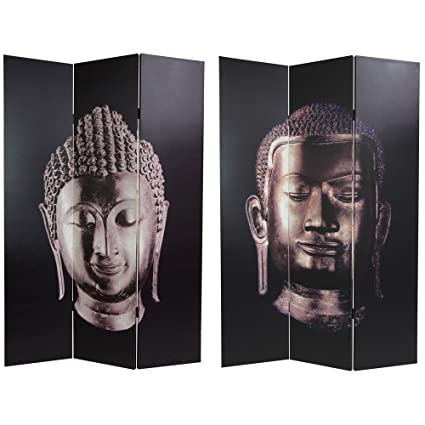 Amazoncom Oriental Furniture 6 ft Tall Double Sided Buddha Canvas