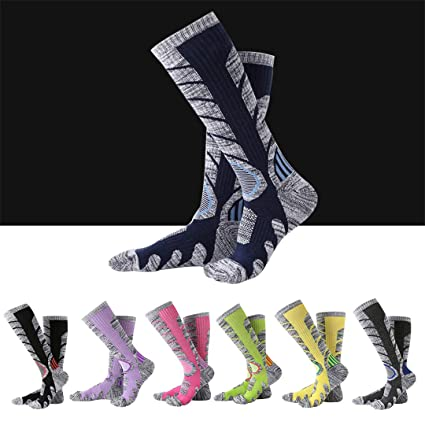 Amazon.com : LKIHHBN Winter Warm Men Women Thermal Ski Calcetines Thick Cotton Snowboard Cycling Skiing Soccer Socks Leg Warmers Long Sock Black L : Sports ...