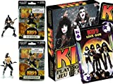 KISS Action Figures Rock Band & Ready to Roll Playing Cards Deck - The Demon & The Starchild 4.5'' collectibles