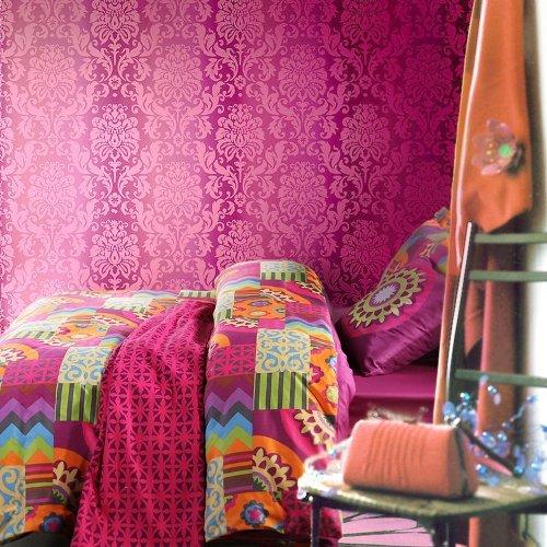 Sisbay Gorgeous Bedding Exotic Ethnic Barcelona,Modern Wedding Duvet Cover Luxury,Chic Damask Active Print Bed Set,Queen King,4pcs