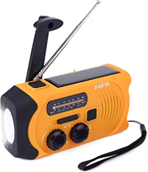 Handkurbel-UKW-Solarradio mit eigener Stromversorgung und LED-Taschenlampe