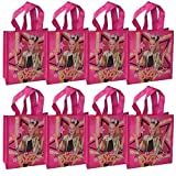 "[8-Pack] JoJo Siwa 8"" Reusable Tote Bags/Party Favor Goodie Treat Bags"