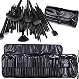 Cadrim 32pcs Makeup Brush Set Professional Makeup Kits Brushes Cosmetic Makeup Set for Women with Pouch Bag Case (Black)