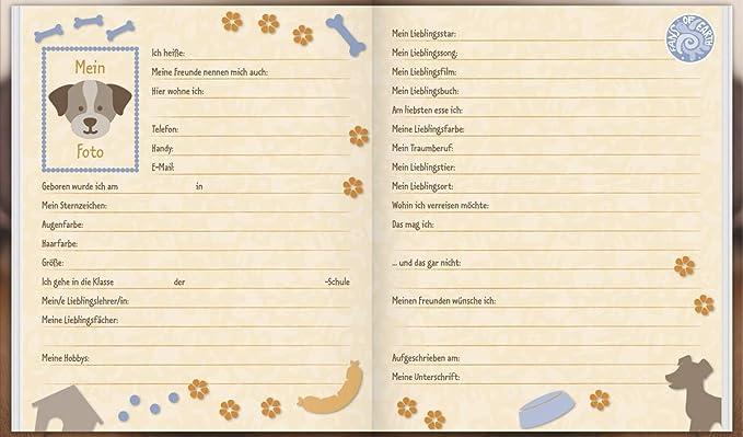 Brunnen Freundebuch mit Hund und Katze OOOPS Meine Freunde Poesiealbum