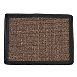 Awhao Multifunction Pet Bed Mattess Sisal Cat Scratch Board Protector Table Chair Sofa Legs Mat (Coffee)