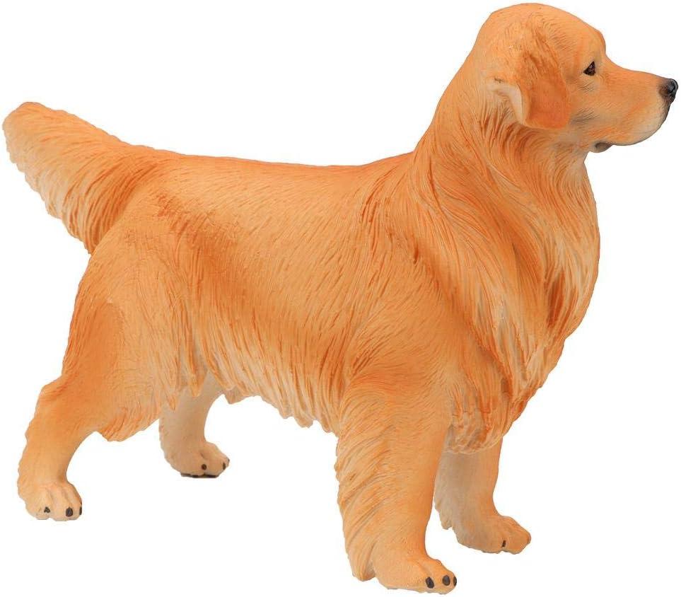 Beige Zerodis Tier Hund Modell Spielzeug Kunststoff Solide Tier Golden Retriever Spielzeug wunderbare Kreatur p/ädagogisches Spielzeug f/ür Kinder