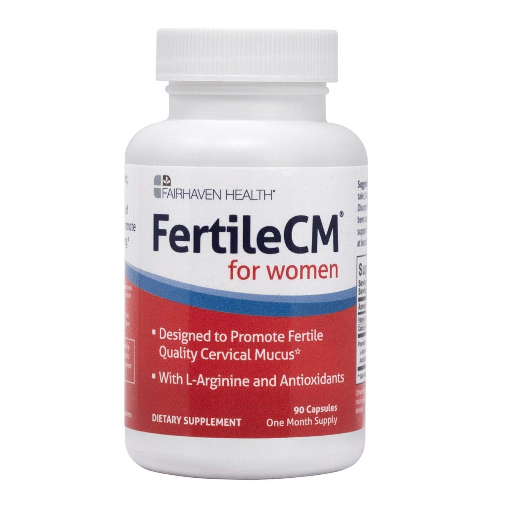 FertileCM Supports a healthy uterine lining (90 Capsules, One Month Supply)