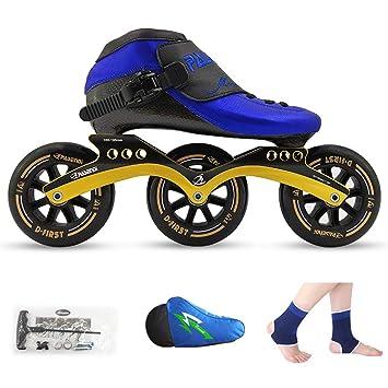 LIUXUEPING Patines, Zapatos De Patinaje De Velocidad, Zapatillas De Carreras, Patines Profesionales para Adultos para Niños, Hombres Y Mujeres Patines En ...